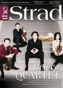 "The cover of ""The Strad"""
